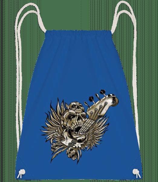 Death Of Guitars - Drawstring Backpack - Royal blue - Vorn