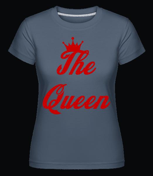 The Queen -  Shirtinator Women's T-Shirt - Denim - Vorn
