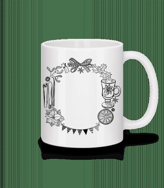 Christmas Framework - Mug - White - Vorn