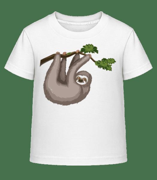 Lenost visí na větvi - Dĕtské Shirtinator tričko - Bílá - Napřed