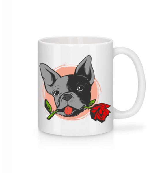 Bulldog Rose - Mug - White - Front