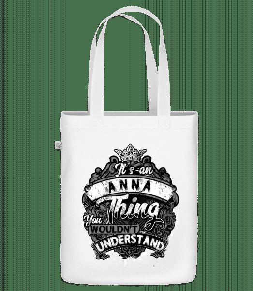 """Je to Anna Thing - Organická taška """"Earth Positive"""" - Biela - Predné"""