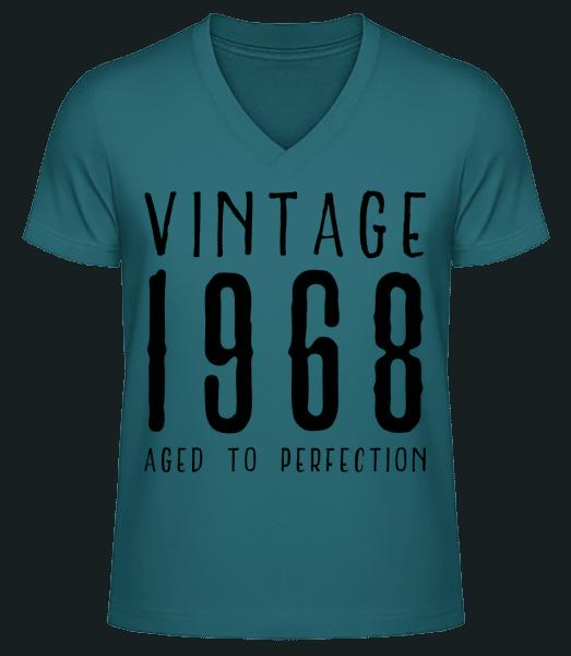Vintage 1968 Aged To Perfection - Men's V-Neck Organic T-Shirt - Petrol - Vorn