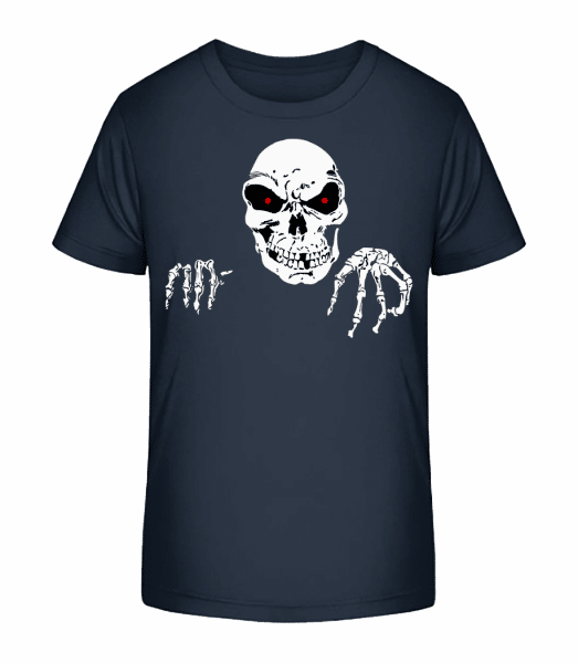 Creepy Death - Kid's Premium Bio T-Shirt - Navy - Vorn