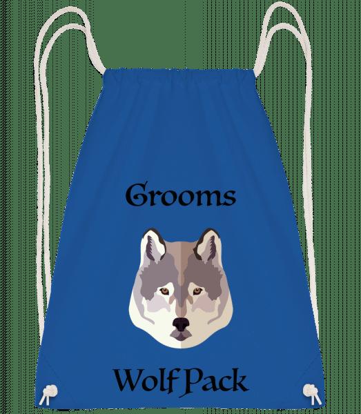 Grooms Wolf Pack - Drawstring Backpack - Royal blue - Vorn