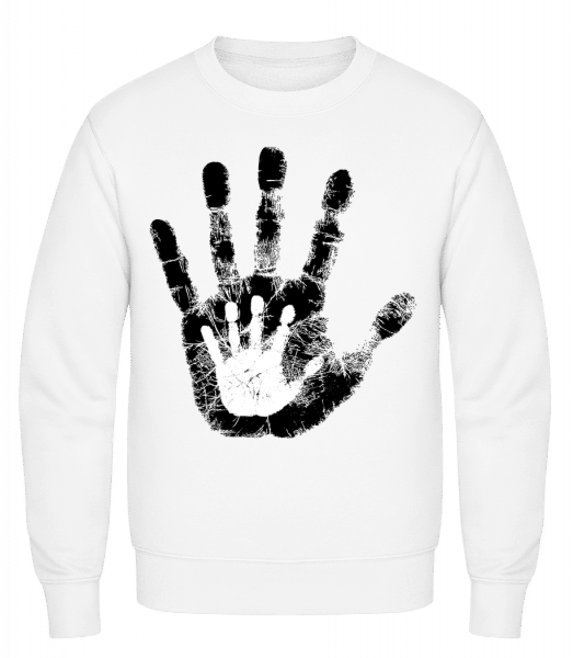 Hand Parents Kid - Classic Set-In Sweatshirt - White - Vorn
