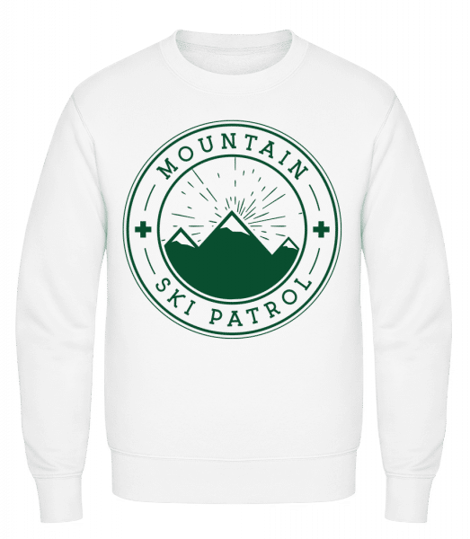 Ski Patrol Icon - Classic Set-In Sweatshirt - White - Vorn