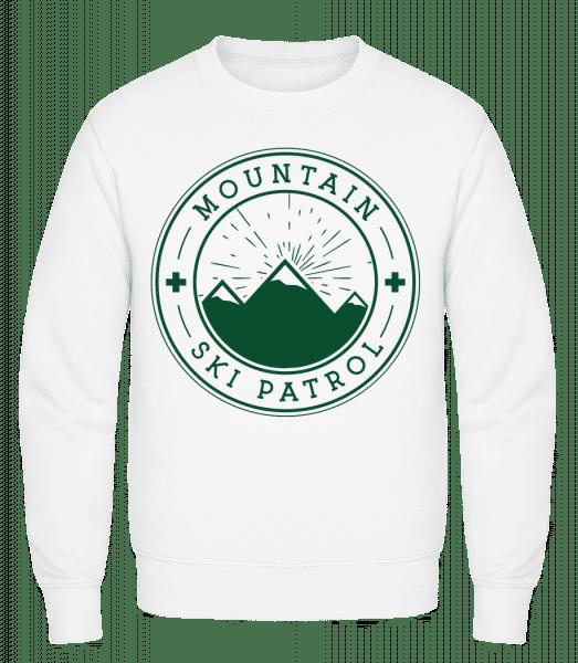 Ski Patrol Icon - Männer Pullover - Weiß - Vorn