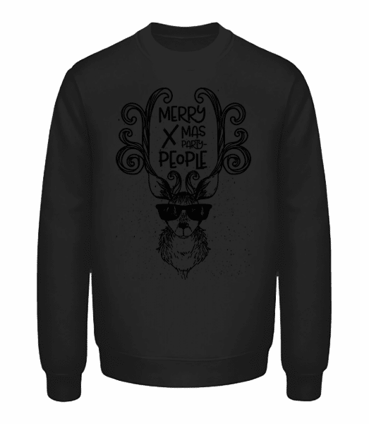 Merry Xmas Party People - Unisex Sweatshirt - Black - Front