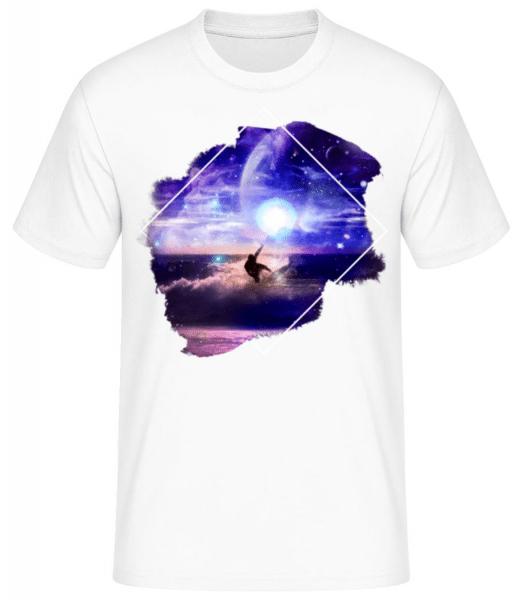 Galaktischer Surfer - Männer Basic T-Shirt - Weiß - Vorne