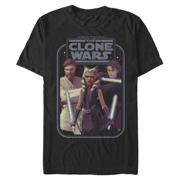 Hero Group Shot - Star Wars Clone Wars - Men's T-Shirt - Black - Front