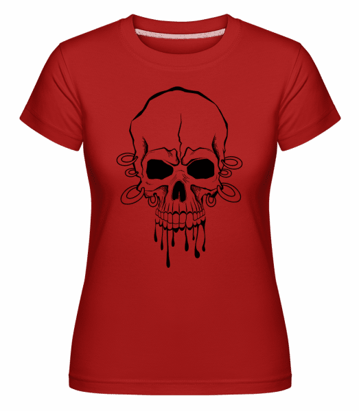 Skull With Wrist Tattoo -  Shirtinator Women's T-Shirt - Red - Vorn