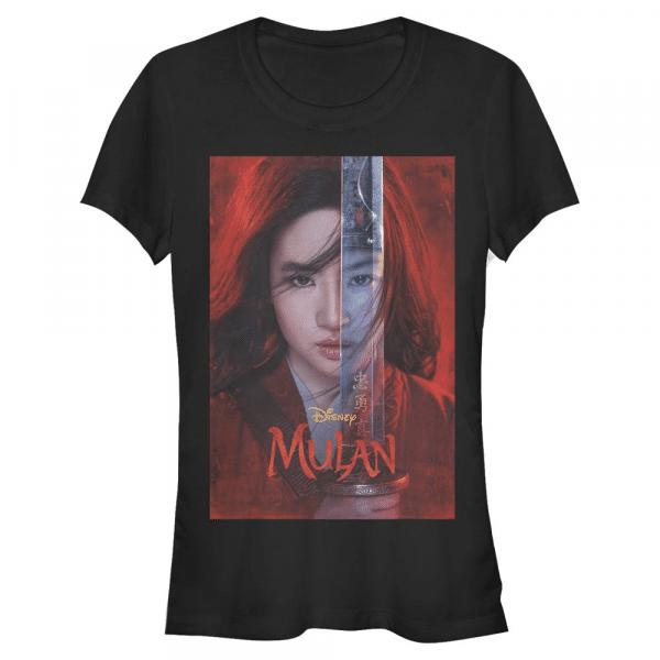 Mulan Poster - Disney - Women's T-Shirt - Black - Front