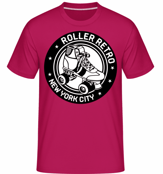 Roller Blade Logo -  Shirtinator Men's T-Shirt - Magenta - Vorn