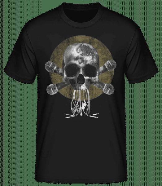 Crâne Avec Microphone - Basic T-Shirt - Schwarz - Vorn
