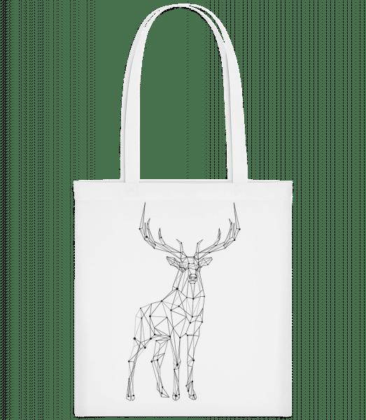 Polygon Deer - Carrier Bag - White - Vorn