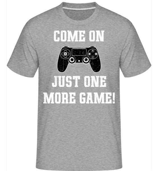 Come On Just One More Game -  Shirtinator Men's T-Shirt - Heather grey - Vorn