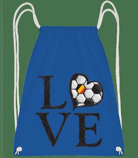 Football Love Belgium - Drawstring Backpack - Royal blue - Vorn