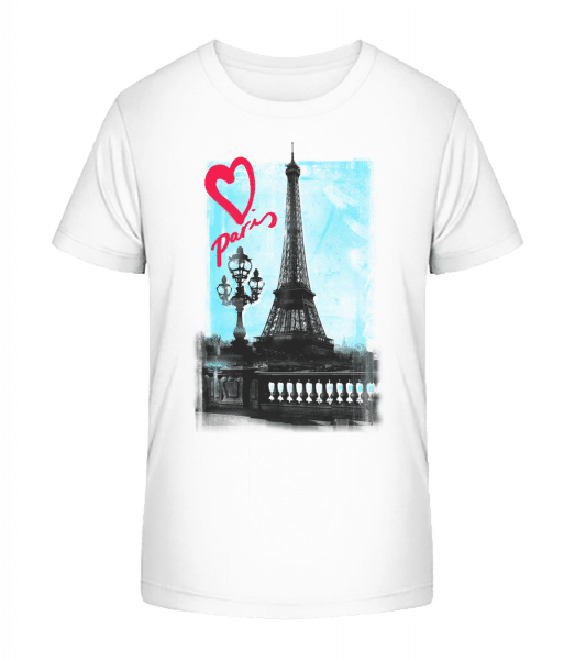 Paris love - Kid's Premium Bio T-Shirt - White - Vorn