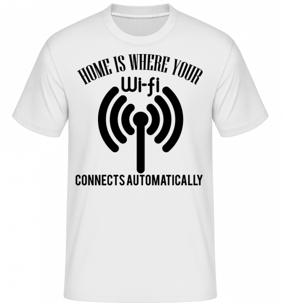 When The Wifi Connects -  Shirtinator Men's T-Shirt - White - Vorn