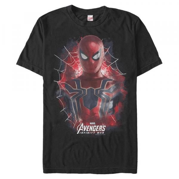 Painted Spider Spider-Man - Marvel Avengers Infinity War - Men's T-Shirt - Black - Front