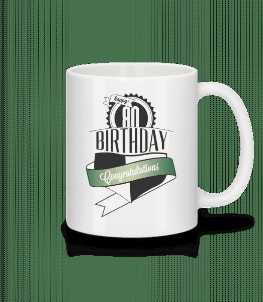 80 Birthday Congrats - Mug - White - Vorn