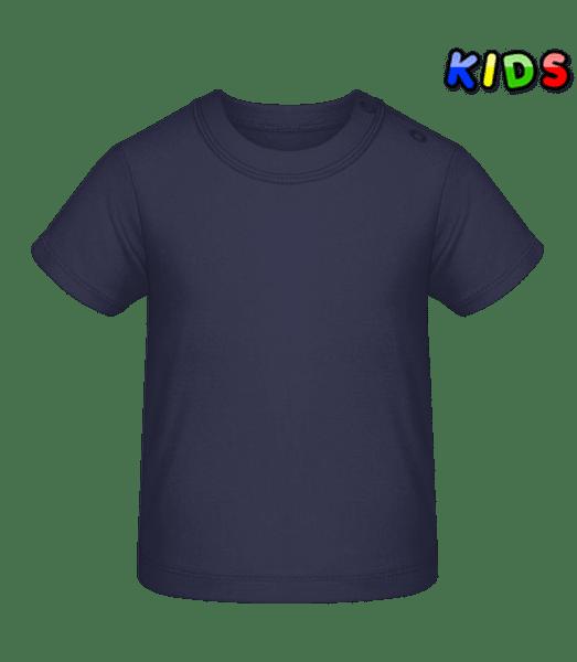 Tričko pre bábätká - Namornícka modrá - Predné
