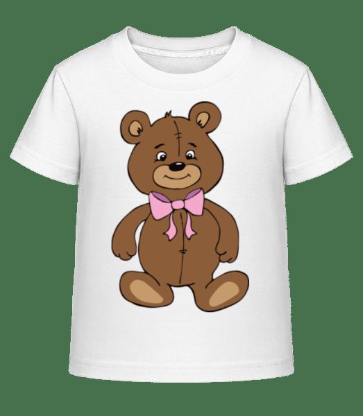 Teddy Bear With Bow - Kid's Shirtinator T-Shirt - White - Vorn