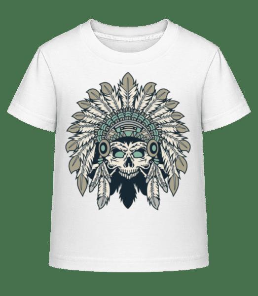 Indian Headdress Skull - Kid's Shirtinator T-Shirt - White - Front