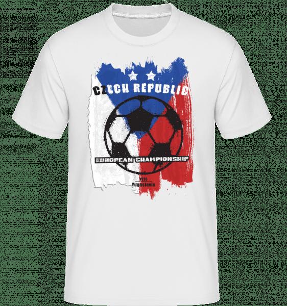Football Tchéquie -  T-Shirt Shirtinator homme - Blanc - Vorn