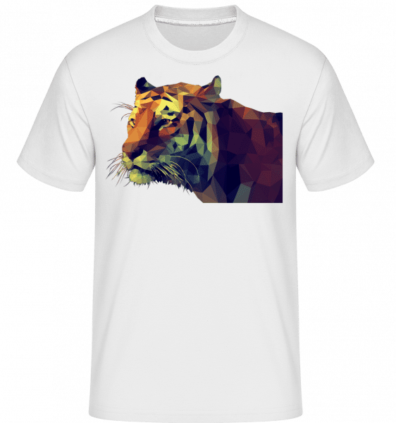 Polygone Tiger -  Shirtinator Men's T-Shirt - White - Vorn