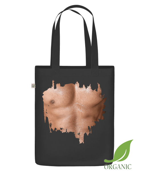 """Muscle Body Man - Organic """"Earth Positive"""" tote bag - Black - Vorn"""