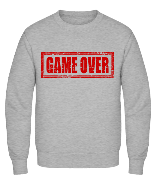 Game Over Sign Red - Classic Set-In Sweatshirt - Heather Grey - Vorn
