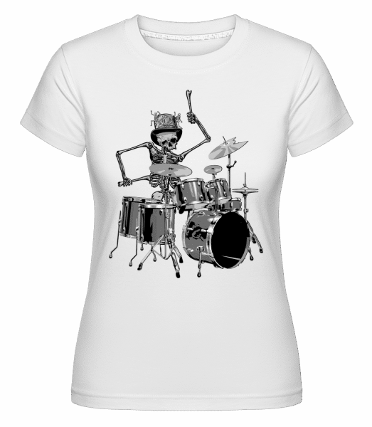 Schlagzeug Skelett - Shirtinator Frauen T-Shirt - Weiß - Vorn