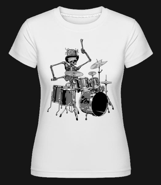 Drum Skeleton -  Shirtinator Women's T-Shirt - White - Front