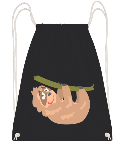 relaxační lenost - Drawstring batoh se šňůrkami - Černá - Napřed