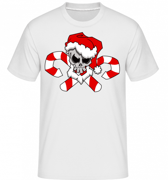 Christmas Skull -  Shirtinator Men's T-Shirt - White - Vorn