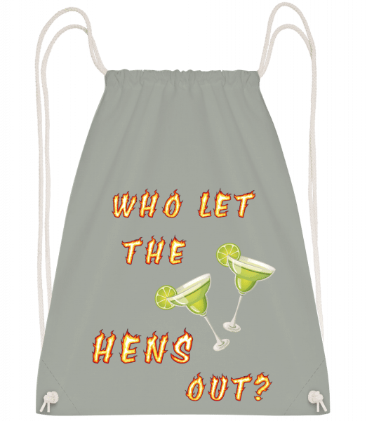 Who Let The Hens Out? - Drawstring Backpack - Anthracite - Vorn