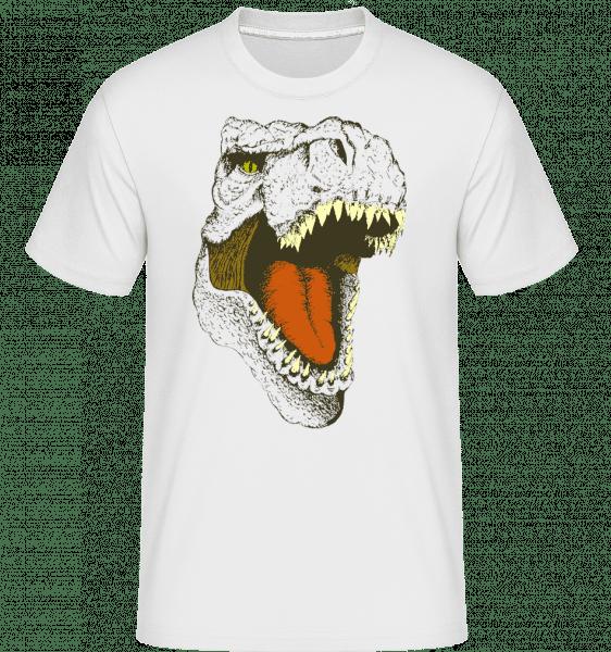 T-Rex Logo -  Shirtinator tričko pre pánov - Biela - Predné