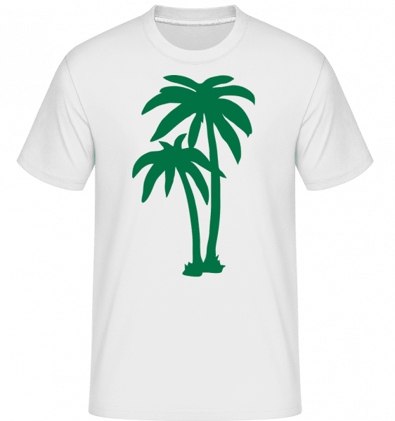 Two Palm Trees -  Shirtinator Men's T-Shirt - White - Vorn