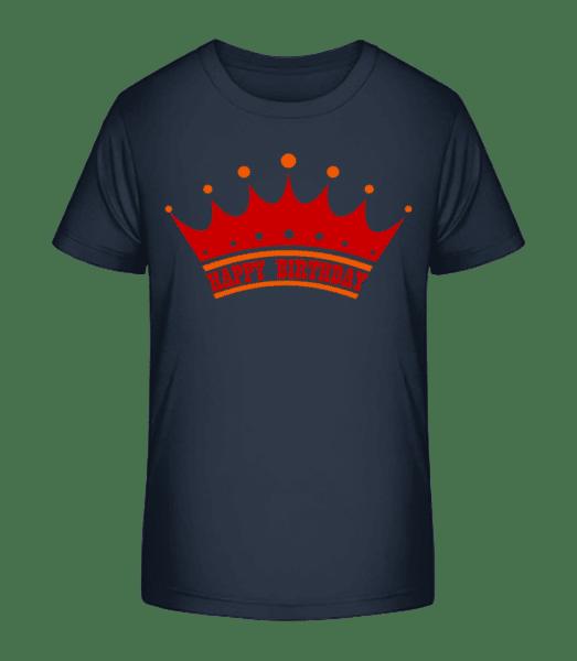 Happy Birthday Crown - Kid's Premium Bio T-Shirt - Navy - Vorn