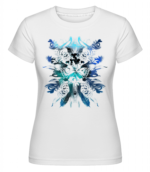 Feathers And Butterflies -  Shirtinator Women's T-Shirt - White - Vorn