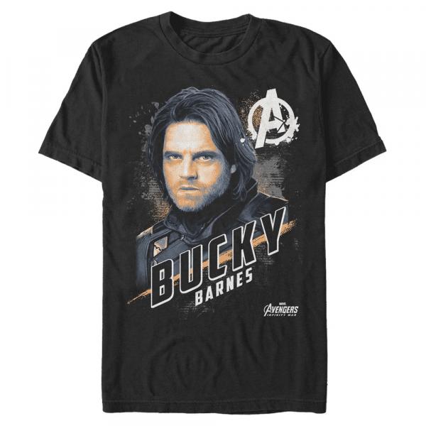 Real Bucky - Marvel Avengers Infinity War - Men's T-Shirt - Black - Front