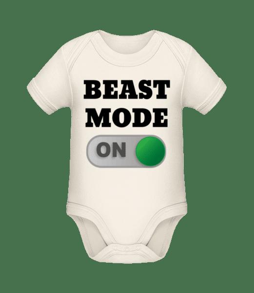 Beast Mode On - Organic Baby Body - Cream - Vorn