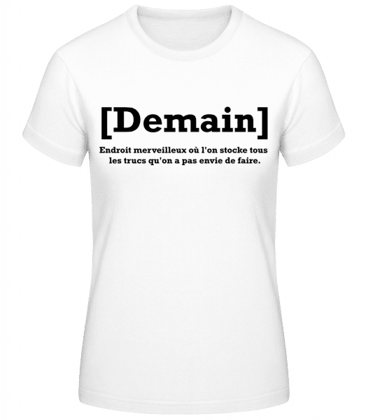 Demain - T-shirt standard Femme - Blanc - Vorn