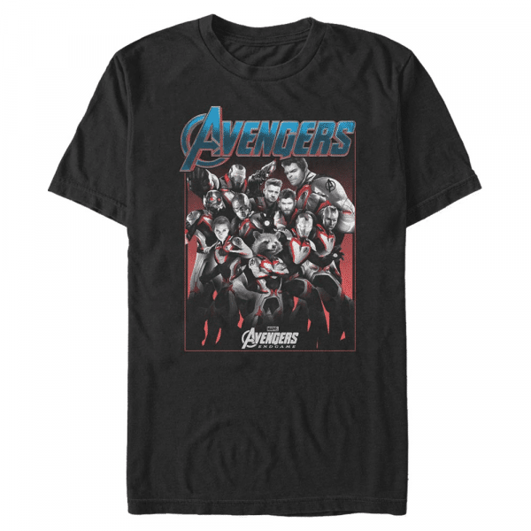 Engame Group Shot - Marvel Avengers Endgame - Men's T-Shirt - Black - Front