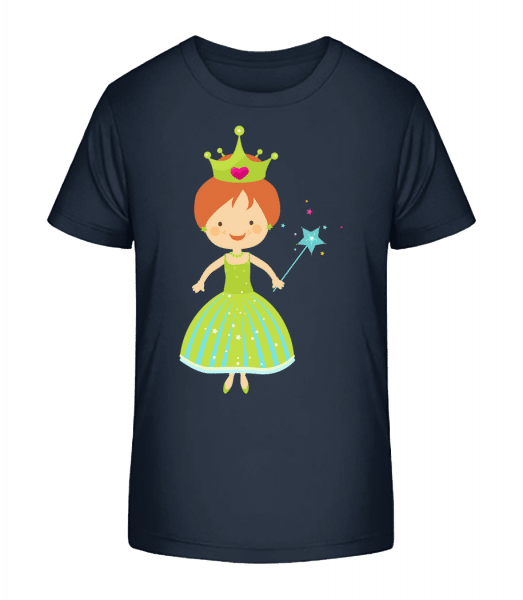 Princess Kids - T-shirt bio Premium Enfant - Bleu marine - Devant