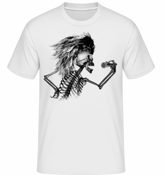 Singing Skeleton -  Shirtinator Men's T-Shirt - White - Vorn