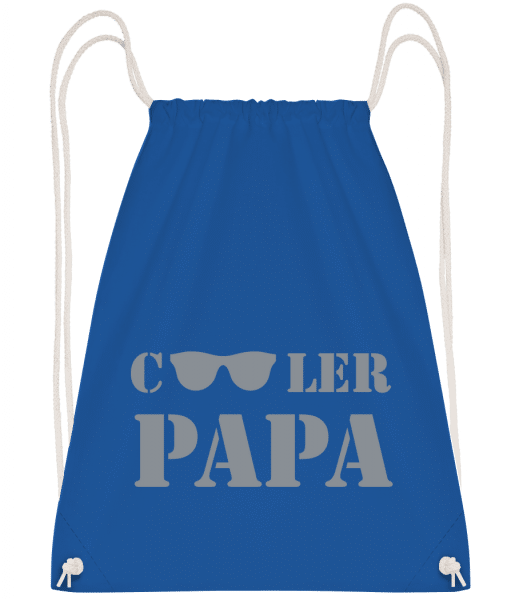 Cooler Papa - Sonnenbrille - Turnbeutel - Royalblau - Vorn