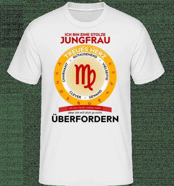 Jungfrau Treues Herz - Shirtinator Männer T-Shirt - Weiß - Vorn